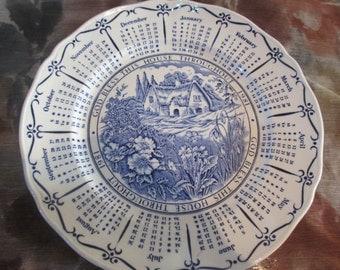 Vintage 1981 Calender Plate Ringtons BY Myott SALE ITEM