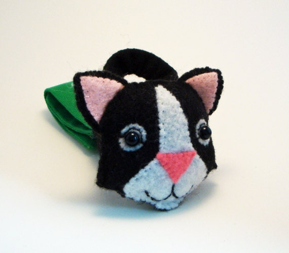 Baby Stroller and Car Seat Toy - Black and White Cat Toy for Baby Car Seats or Strollers