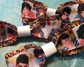 One Direction hair bow // leopard print