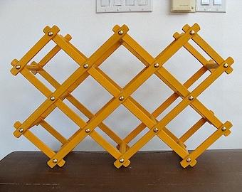 Vintage Expandable Wood Wine Rack