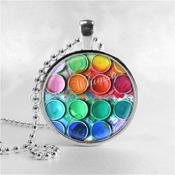 Artist necklace pendant art jewelry artist paints necklace like this item mozeypictures Choice Image