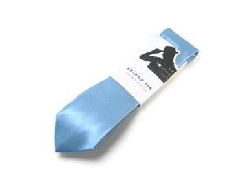 powder blue skinny tie