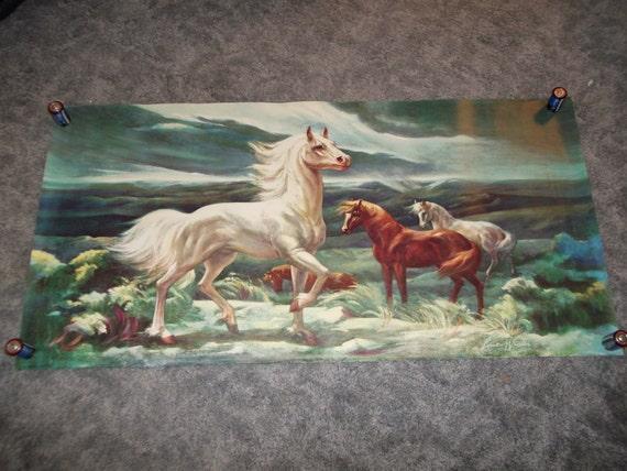 White Stallion in the Moonlight by Lumen Winter