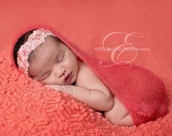 LAST ONE Floral newborn headband, vintage newborn headband, photography prop, newborn prop
