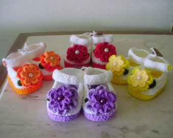 Princess crochet baby shoes