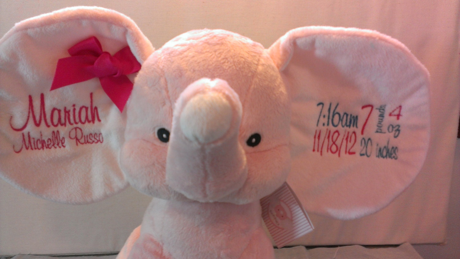 Elephant baby gift – Personalized Baby Announcement Gifts