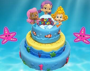Bubble Guppies  Piece Birthday Cake Topper Set