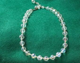 Vintage Laguna Aurora Borealis Crystal Necklace