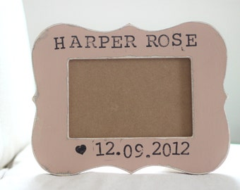 Personalized Baby Picture Frame, Baby Girl Gift Personalized Baby Frame, Newborn Baby Gift, Engraved Newborn Gift, Newborn Gift