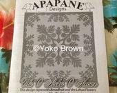 """Hawaiian quilt pattern """"Ulu o moku o keawe"""" 42 inch x 42 inch"""