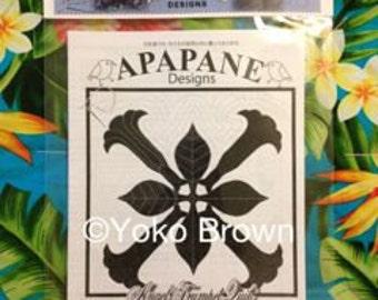 "Hawaiian quilt pattern ""Angels trumpet"" 20 inch x 20 inch"