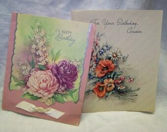 Vintage Birthday Cards Used