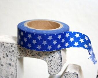 Blue Mini Star Washi Tape