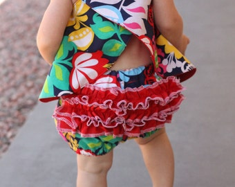 Pinafore & Ruffle Panties PDF Pattern Baby/Toddler