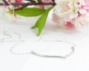 Chevron Necklace, V Necklace, Sterling Silver, Accent Necklace, Collar Necklace, Everyday Necklace Silver, Letter V, Modern Simple