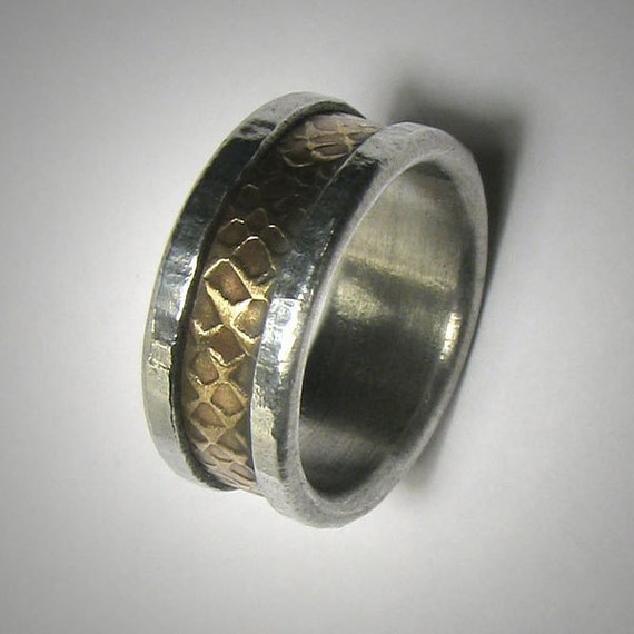 s wedding band unique custom handmade brass by dougdesigns