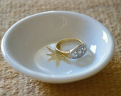 Gold Star Jewelry Dish/Catch-All/Ring Dish, Wedding Party Favor Trinket Dish