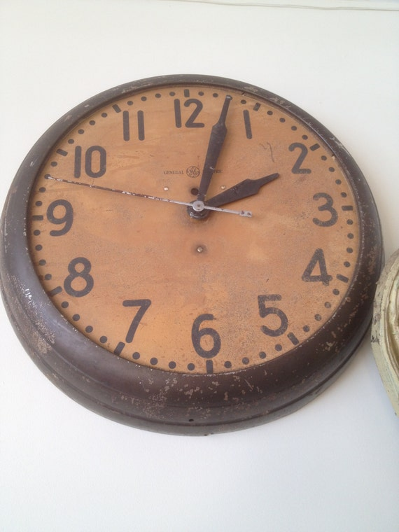 General Electric Antique Station Wall Clock Large Sale