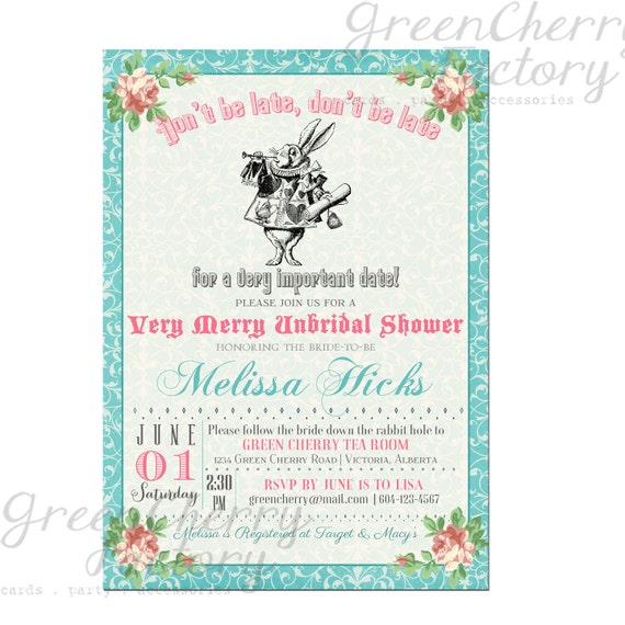 items similar to bridal shower invitation mad hatter tea