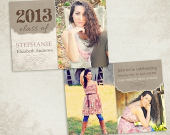 Senior Graduation Announcement Template for Photographers 001 - ID087, Instant Download