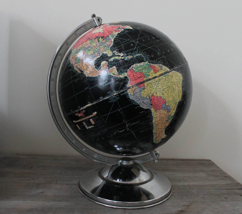 1940s 12 Inch Standard Globe by Replogle Globes / Desk