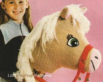 Toy Hobby Horse to knit - PDF of vintage knitting pattern