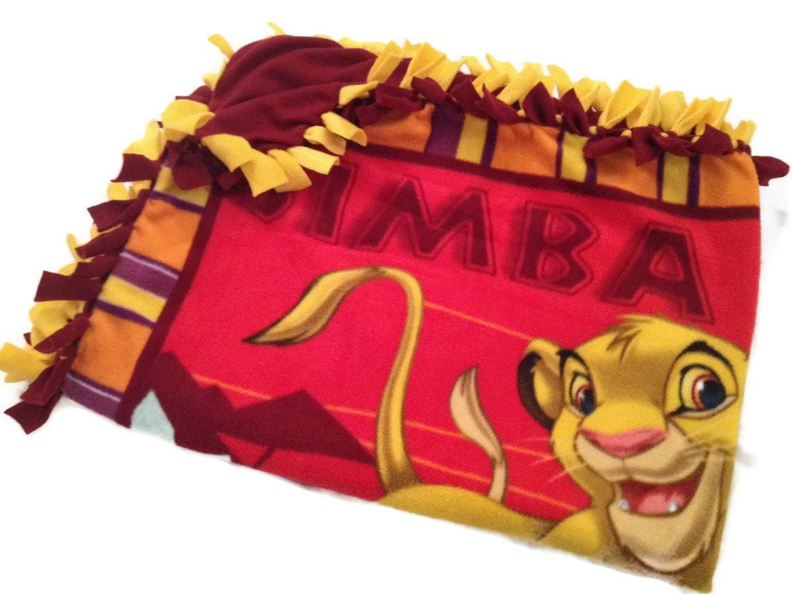 Disney Lion King Blanket Fleece No Sew Tie By