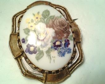 vintage costume jewelry victorian antique large cameo mini flower portrait