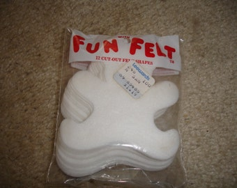 Vintage Fun with Felt package of 12 cut-out Bears