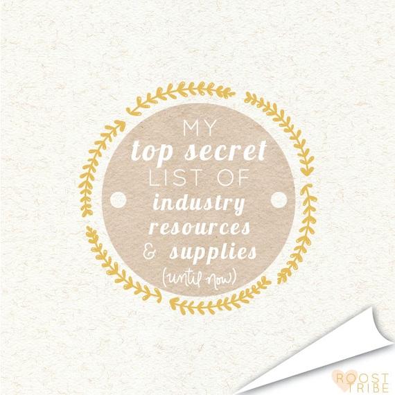 top secret list of industry resources & supplies e-book
