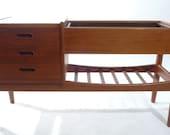 Mid-Century Danish Modern Teak Planter Storage Cabinet by Arne Wahl Iversen