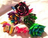 One Dozen Duct Tape Origami Flower Pens