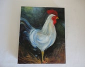Original Painting of Rooster