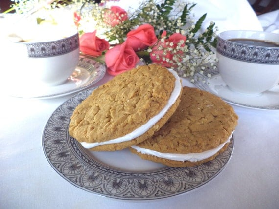 Oatmeal creme sandwich all natural treat by PghCookieGoddess