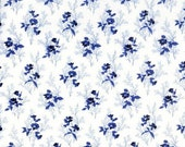 SAVOY white background with small french blue flowers 6475