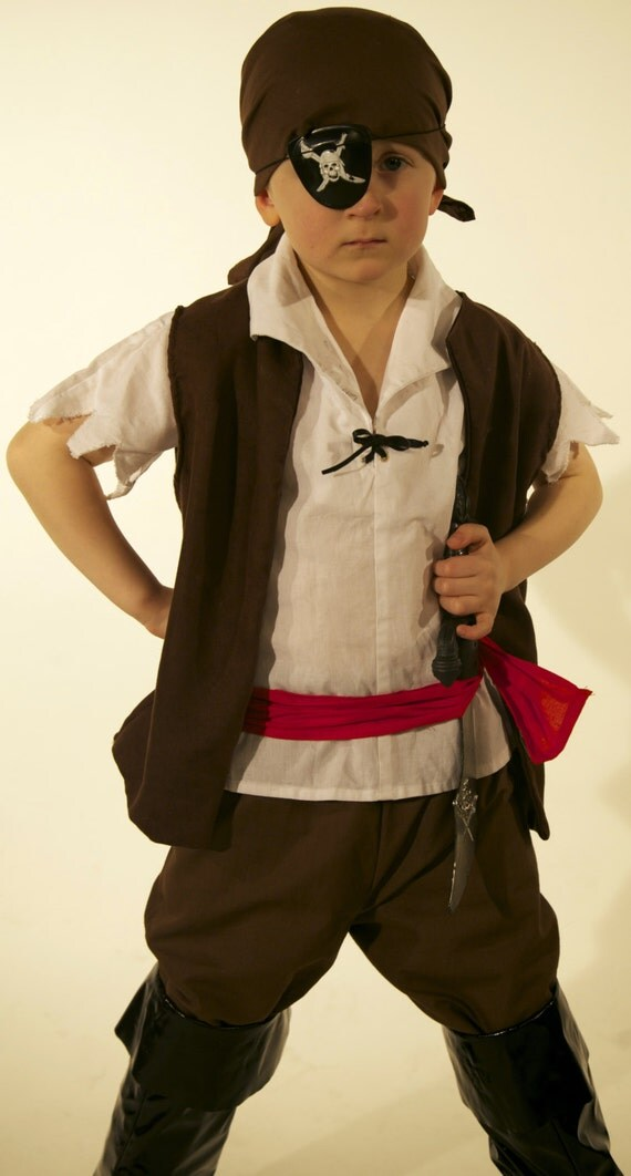 Boys Pirate costume handmade in all sizes by Kenickys on Etsy