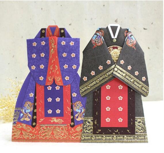 Hanbok Korean Traditional Wedding Dress Card Set By Harvard5f