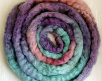 Massam Wool Roving Masham Wool - Hand Painted Felting or Spinning Fiber -100g