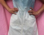 Ombre Dip Dyed Bleached Denim Shift Dress