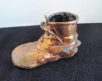 Bronze Baby Shoe 1920s Marked 20X4  Vintage bronze shoe, Shoe collectible, bronze collectible,vintage display piece