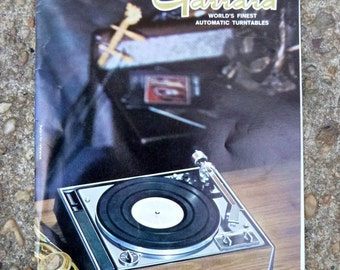 "1967 Garrard turntable catalog ""World's finest automatic turntables"" 1967 ""summer of love"""