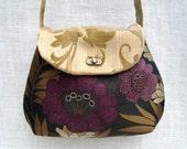 Womens Cross body -  Floral Bag - Handmade Fabric Purse