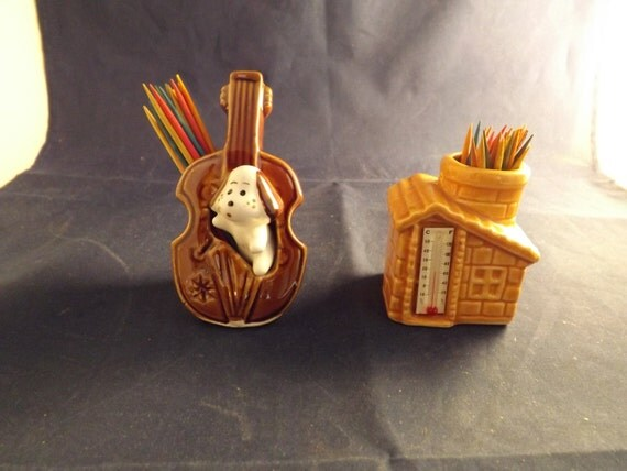 Two unique toothpick holders and thermometer by putfamilyfirst - Toothpick holder for purse ...