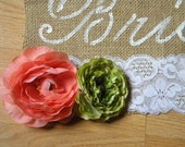 Burlap Custom Here Comes the Bride Sign Wedding Decor Your Flower/Color Choice