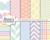 "Easter Sunday -- Pastel Color Coordinated Digital Paper Pack -- 12"" x 12"""