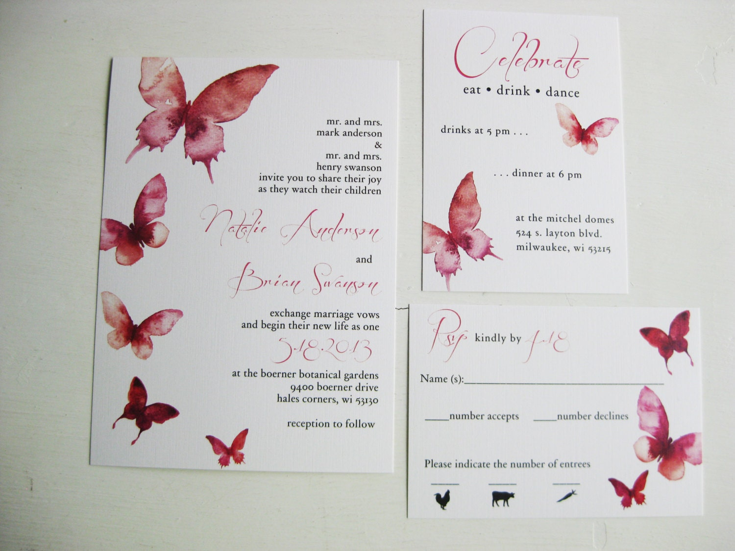 Cheap Butterfly Wedding Invitations: Watercolor Butterfly Wedding Invitations Dco Lovenotes