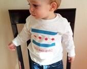 Chicago Flag Long Sleeve Toddler T