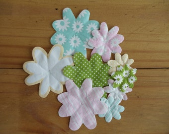 Paper Flowers 9 in varied sizes colors and patterns for all occasions