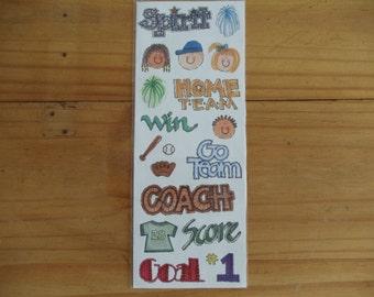Stickers for Soccer Football Basketball Cheerleading Team Spirit