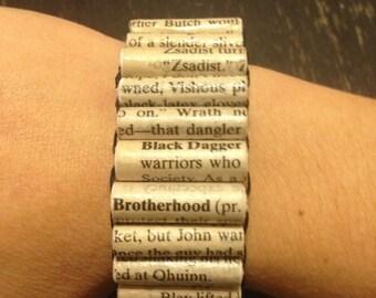 Black Dagger Brotherhood Paper Bead Bracelet